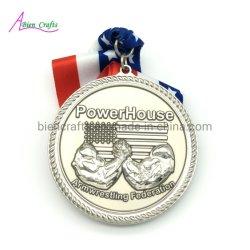 훈장 Anyard를 가진 미국 국제적인 메달 3D에 의하여 주문을 받아서 만들어지는 황금 은 큰 큰 메달 기장 운영하는 트로피 선물