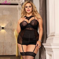 Großhandelsqualitäts-Spitze-erotische Frauen plus Größen-reizvolle Wäsche