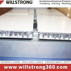 15mm 간격 알루미늄 벌집 위원회 Forarchitectural 정면 위원회 닫집 천장 Signage에 의하여 송풍되는 정면