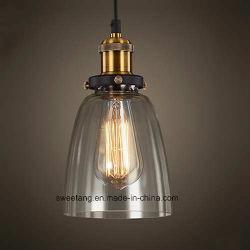 Luz interior colgante de vidrio moderna lámpara para la decoración del hogar