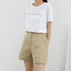 La fabricación de OEM Casual Outwear tejido de algodón de las mujeres a corto