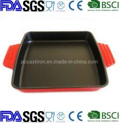 Square Ehamel Cerámica Porcelana plato para hornear de hierro fundido 23x23cm