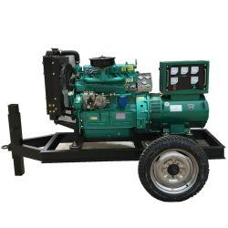 Weifang pequeña potencia mobile conjunto de la generación de 30kw 37,5 kVA grupo electrógeno diesel tipo remolque
