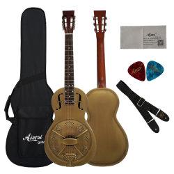 Precio mayorista Vintage Bell cuerpo metálico de salón guitarra Resophonic