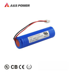 Batería de almacenamiento de herramientas eléctricas con ONU38.3 18650 Celda de 3.7V 2200mAh Li-ion Battery Pack