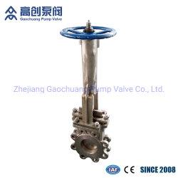 Aletta manuale della rotella della maniglia o valvola a saracinesca industriale tirata della lama dell'acciaio inossidabile