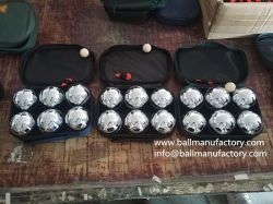 금속 Petanque 공 Boules의 공급자는 6 공을 놓았다
