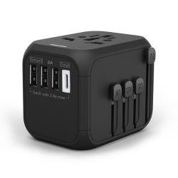 Наиболее востребованных UK поездки Multi-Nation USB адаптер питания Всемирной универсальной Дорожный адаптер переменного тока с помощью зарядного устройства USB