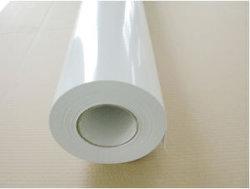 Белая глянцевая 100 mic ПВХ Самоклеющиеся бумаги для широкоформатной печати материала
