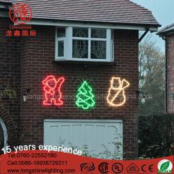 LED de señal personalizada decoración de Navidad muñeco de nieve Santa Claus de árbol de la luz de Motif de la cuerda para el exterior