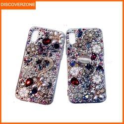 Accessoires de Mode de luxe fleur Diamond Téléphone pour couvrir Lady Crystal de cas