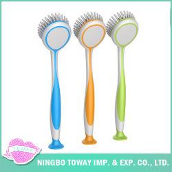 Hacer el lavado de bambú plato limpio de silicona para la limpieza del cepillo