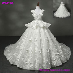 Vestido de casamento longo branco W18348 da venda por atacado nova do projeto