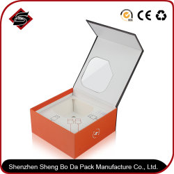 De matte Oppervlakte die van de Laminering het Vakje van de Ring het Harde Document overhandigen die van de Gift van het Karton Verpakkende de Verpakking van de Verfdoos van het Venster van pvc van de Vertoning Vouwen