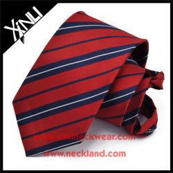 Noeud parfait tissé de polyester à l'homme cravate à fermeture éclair