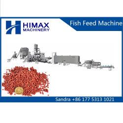 뜨 물고기는 건조한 개 애완 동물 먹이 기계 압출기에게 동물 먹이 기계를 공급한다