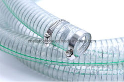 Пластиковый ПВХ спираль стальной проволоки шланг производства