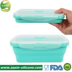 BPA geben hitzebeständigen Nahrungsmittelgrad-SilikonLunchbox mit LFGB Bescheinigung frei