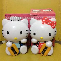 """패밀리 마트 A pairs kitten Love Lucky Plastic Coin Bank Money Box 5.9"""""""
