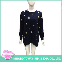 Lavori o indumenti a maglia delle donne di inverno delle parti superiori dei ponticelli dello stilista di vendita