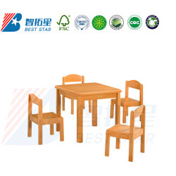Les enfants de l'école, les enfants de meubles en bois massif carré Kids Table, Table d'étude préscolaire et de pépinière, classe de maternelle dans le tableau d'étudiant