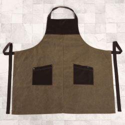 Grembiule uniforme della busbana francese del Workwear della tela di canapa impermeabile di colore di Olivia (RS-170305)