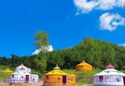Tenda mongola Yurt della Acciaio-Plastica di approvvigionamento