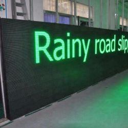 El tráfico exterior señal LED P10/P12 texto Desplazamiento vídeo DIP346 LÁMPARA DE LED de color estable completo Tablero de control