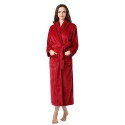Цветные женщин Homewear флис шикарные банные халаты банный халат из микроволокна