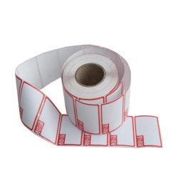관례에 의하여 인쇄되는 로고 백색 열 이동 공백 레이블