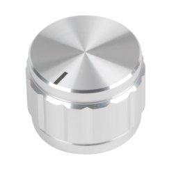 専門的にOEMの銀によって陽極酸化されるアルミニウム音量調節の回転ノブ