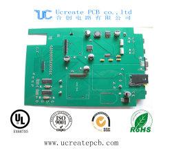 Aangepaste, aan twee kanten vast PCB-printplaat met groen soldeermasker