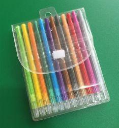 최신 인기 상품 문구용품 다채로운 명확한 플라스틱 Twistable 왁스 크레용은 놓았다