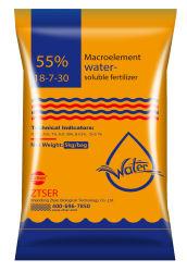 Macroelement Light-Yellow poudre avec 55 % d'engrais soluble dans l'eau