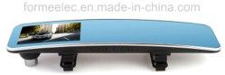 4.3 pulgadas de doble cámara espejo retrovisor coche DVR