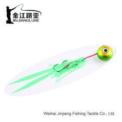 Wp-34-1 Bkk Hook curseur jupe en caoutchouc le mérou Jig Snapper gabarit Gabarit lure lrue de pêche en caoutchouc