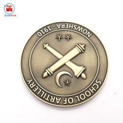 Escola de metal latão antigo personalizado Insignia Coin