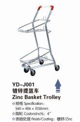 Supermarché Double panier Chariot de transport