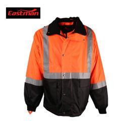 Fr20471 orange haute visibilité Parka imperméable avec bandes réfléchissantes