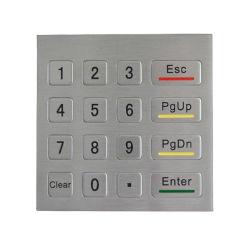 Acero inoxidable con puerto USB del teclado numérico teclado de metal/Outdoor