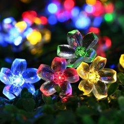 ضوء شريط الطاقة الشمسية LED 50LED، مصابيح LED الخاصة بعيد الميلاد، مع طراز جديد.