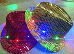 LED de la moda de Jazz de sombrero de paja sombreros gorros de promoción de regalo