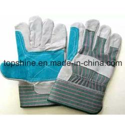 형식 노동 산업 안전 쇠가죽 쪼개지는 가죽 작동 장갑