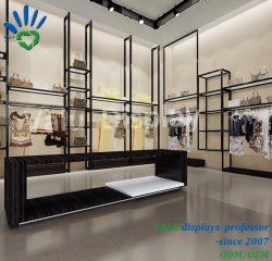 China Factory Design Wall Display Showcase Voor Kleding