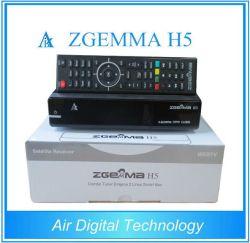 2016 новых мощных и стабильных CPU Zgemma H5 спутниковое ТВ ресивера два ядра Linux Hevc/H. 265 DVB-S2+T2/C двумя тюнерами кабеля