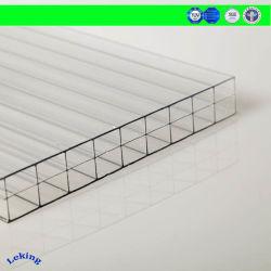 China-Hersteller-schützendes Luftblasen-Isolierungs-/Isolierungs-Baumaterial/Sonnenschein-Polycarbonat-hohles/freies Lexan festes Blatt für LED-Beleuchtung/Zeichen/Deckel