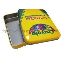 Rechteckiger Lippenstift-verpackenkasten-kosmetischer Zinn-Kasten