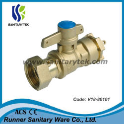 Verschließbares Kugelventil/Wasser-Messinstrument-Messingkugelventil (V18-80101)
