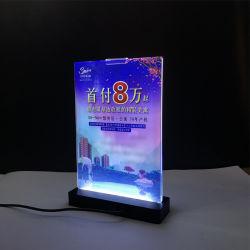 A4/A5/A6 LED 가벼운 아크릴 테이블 메뉴 홀더
