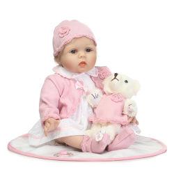 Renascidos Bonecas Bebê Bonitinha artesanal realista de Silicone macio bonecos de vinil bebê recém-nascido Bebe Bonecos presente de Natal